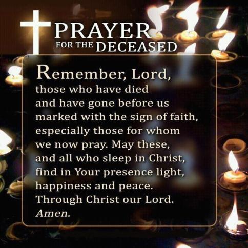 prayer for deceased