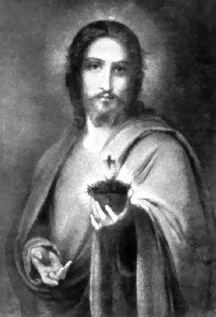 Jesus giving His Heart