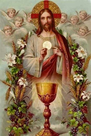 Jesus with Euchariistic Heart