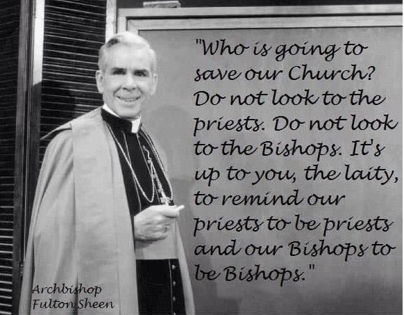 fulton sheen priests need to be priests